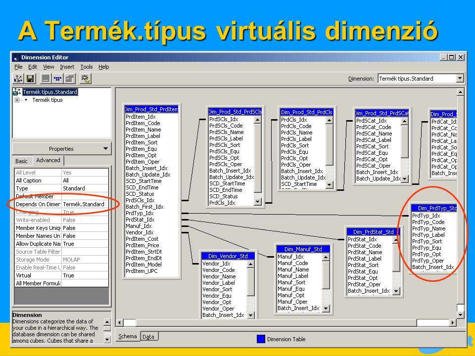 A Termék.típus virtuális dimenzió