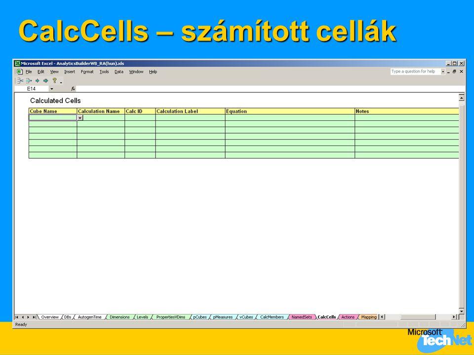 CalcCells – számított cellák