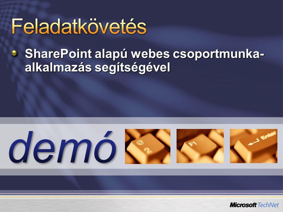 SharePoint alapú webes csoportmunka- alkalmazás segítségével