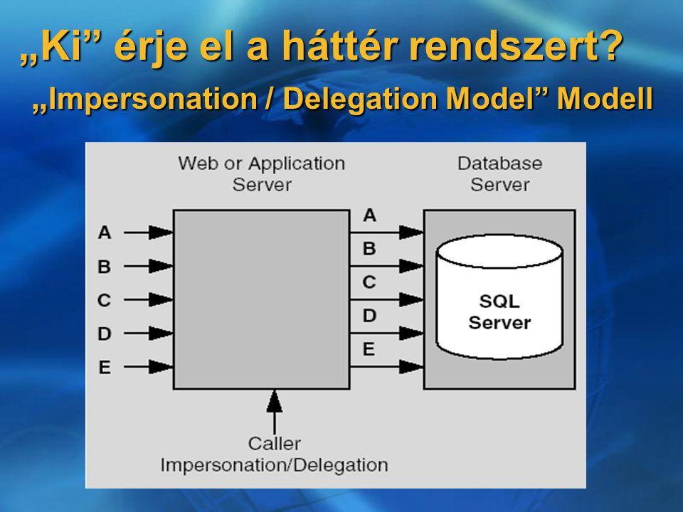 """""""Ki érje el a háttér rendszert """" Impersonation / Delegation Model Modell"""