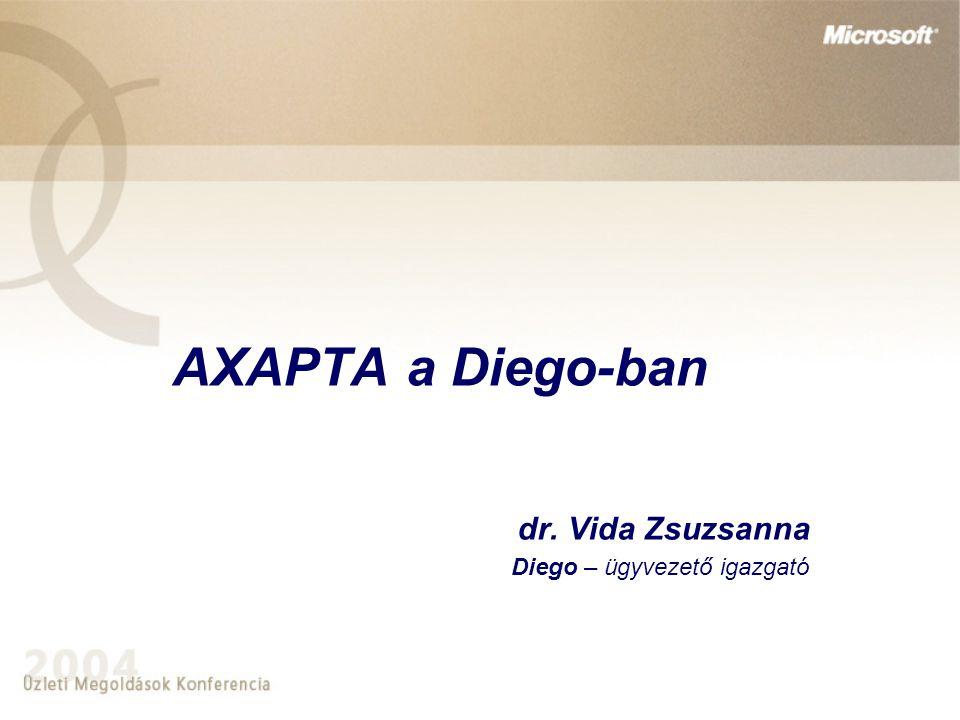 AXAPTA a Diego-ban dr. Vida Zsuzsanna Diego – ügyvezető igazgató