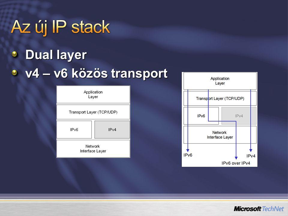 Dual layer v4 – v6 közös transport