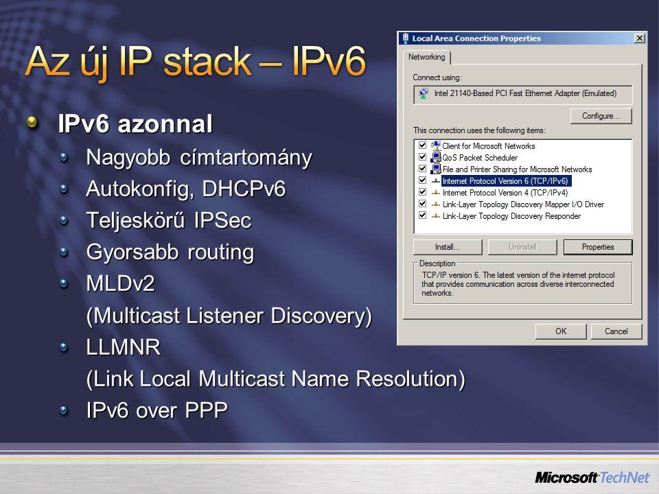 Az új IP stack Terminal Services Demó