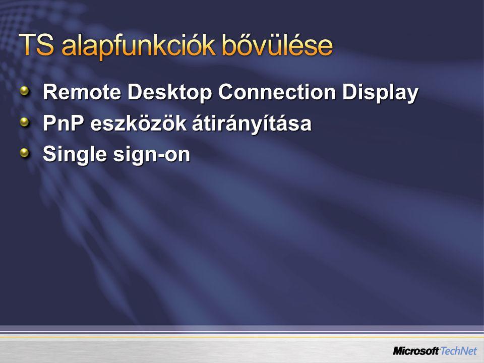 Ajánlott irodalom - Online Windows Server 2008 Technical Library http://go.microsoft.com/fwlink/?LinkId=86808  Networking  Terminal Services Technet Terminal Services fórumok http://forums.microsoft.com/TechNet/ShowForum.