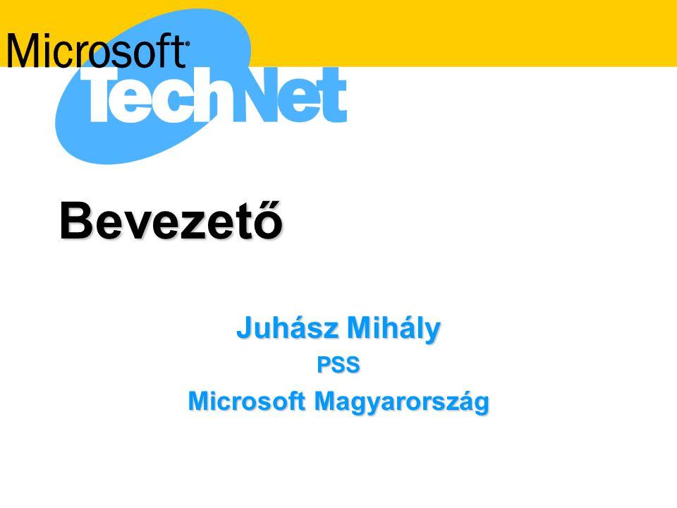 Bevezető Juhász Mihály PSS Microsoft Magyarország
