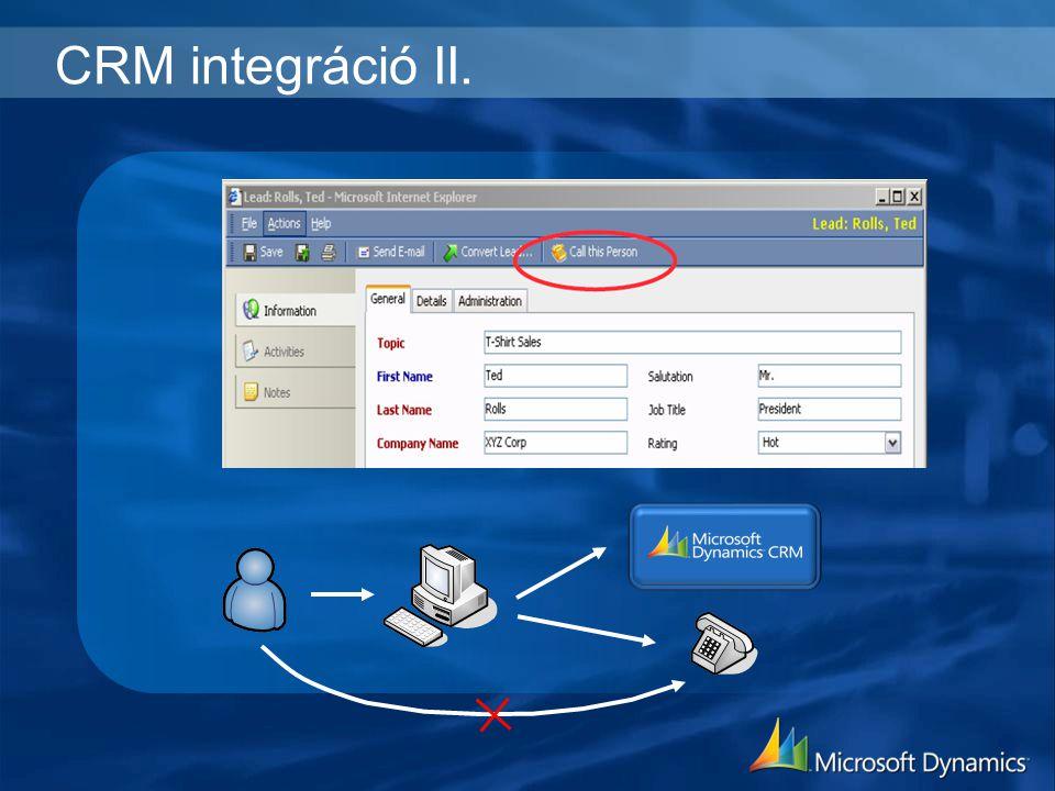 CRM integráció II.