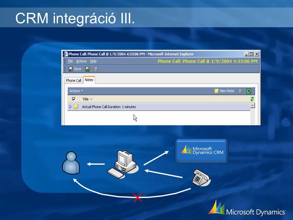 CRM integráció III.