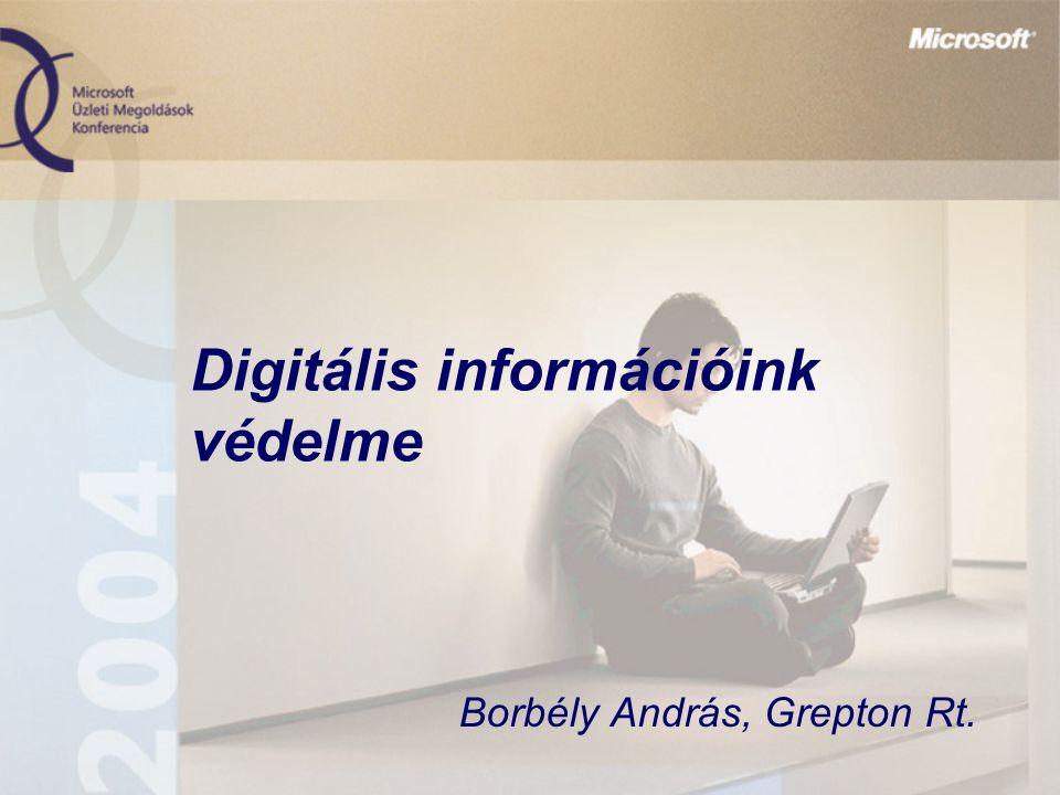 Digitális információink védelme Borbély András, Grepton Rt.