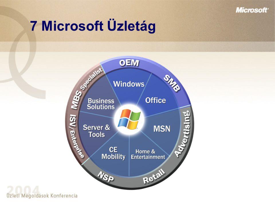 7 Microsoft Üzletág