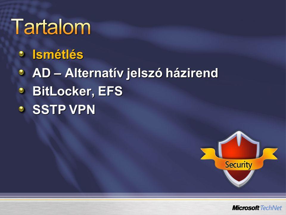 Windows Service hardening, Session 0 izoláció, belépés-hitelesítés OS fájl védelem, eszköz/driver telepítés korlátok UAC, Windows Defender, IE7 védett mód WF with Advanced Security, IPSec Kismillió GP opció NAPStb.