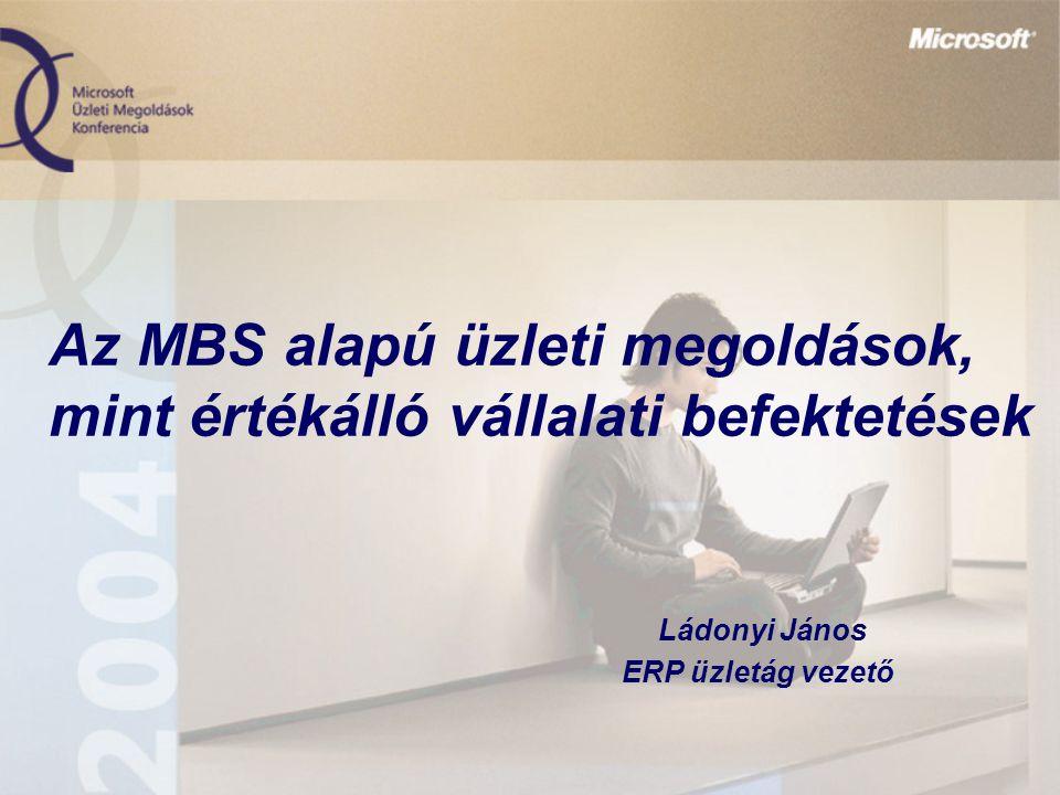 Az MBS alapú üzleti megoldások, mint értékálló vállalati befektetések Ládonyi János ERP üzletág vezető