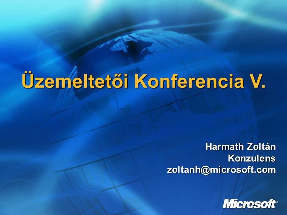 Üzemeltetői Konferencia V. Harmath Zoltán Konzulenszoltanh@microsoft.com
