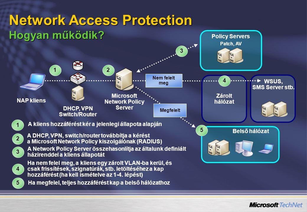 Nem felelt meg 1 Zárolt hálózat A kliens hozzáférést kér a jelenlegi állapota alapján 1 4 Ha nem felel meg, a kliens egy zárolt VLAN-ba kerül, és csak