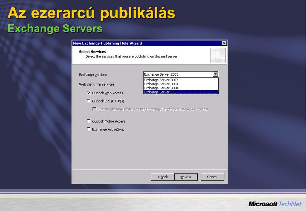 Az ezerarcú publikálás Exchange Servers