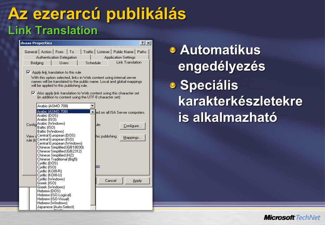 Automatikus engedélyezés Speciális karakterkészletekre is alkalmazható Az ezerarcú publikálás Link Translation