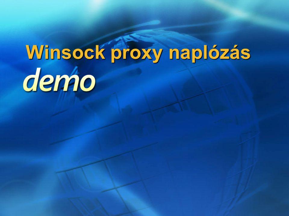 Winsock proxy naplózás