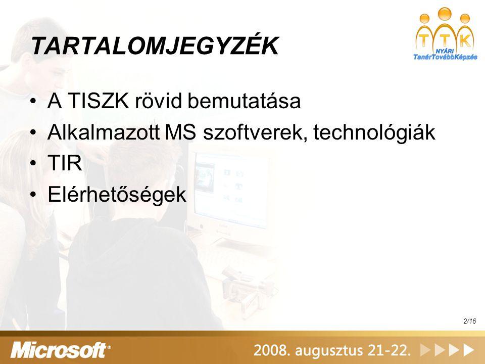 TISZK Irányítási Rendszer – TIR VII.Tanulók adatai...