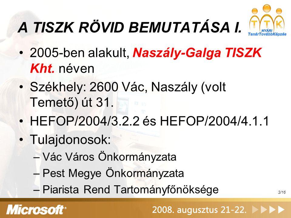 TISZK Irányítási Rendszer – TIR VIII.Partnerek adatai...