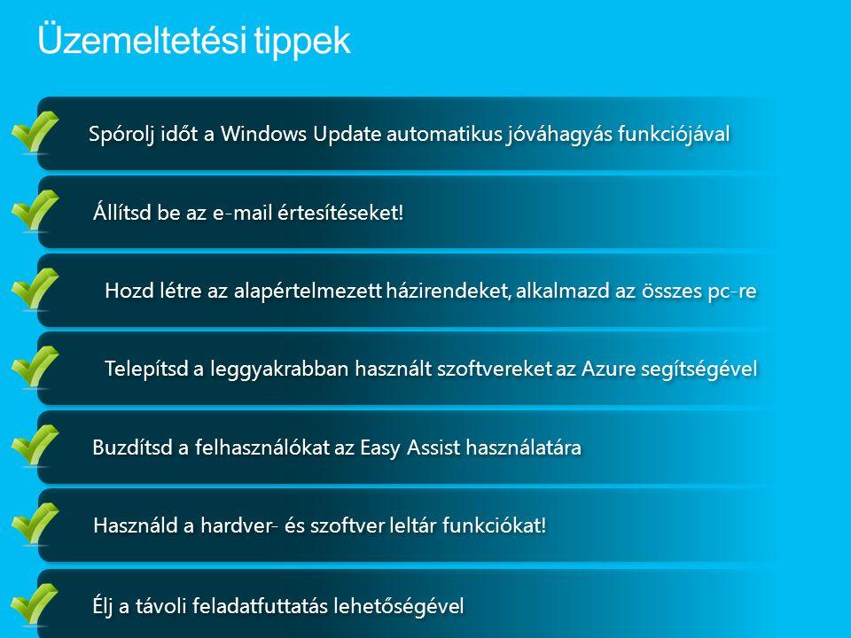 Spórolj időt a Windows Update automatikus jóváhagyás funkciójával Állítsd be az e-mail értesítéseket.
