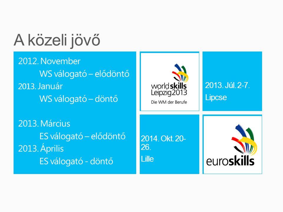 2012. November WS válogató – elődöntő 2013. Január WS válogató – döntő 2013.