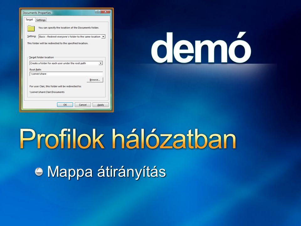 """XP <> Vista együttélés Vándorló profil Vista: új profil, username.v2 formula Dupla tárolással számoljunk A """"Default User profil: 2x"""