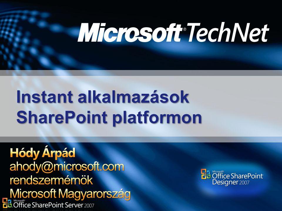 Instant alkalmazások SharePoint platformon