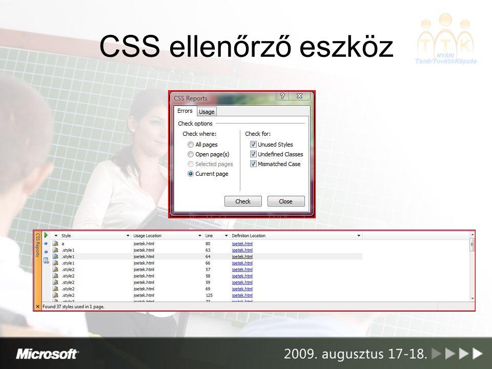 CSS ellenőrző eszköz