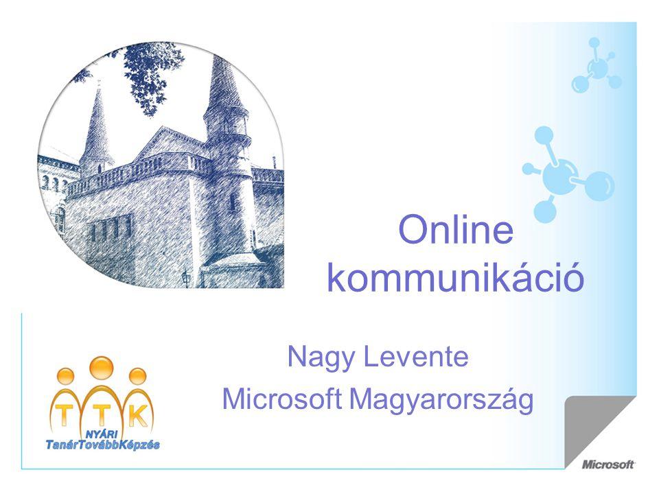 Online kommunikáció Nagy Levente Microsoft Magyarország