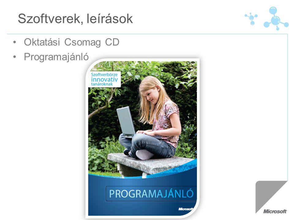 Szoftverek, leírások Oktatási Csomag CD Programajánló