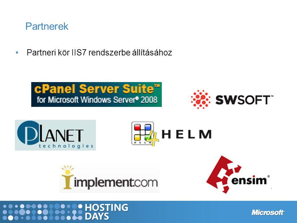 Partnerek Partneri kör IIS7 rendszerbe állításához