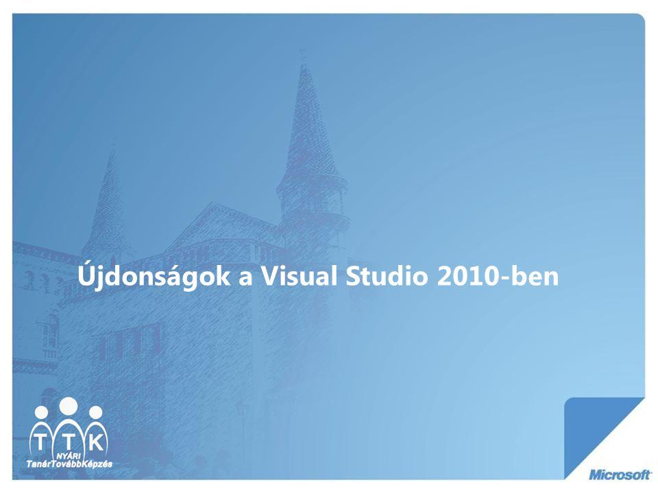 Újdonságok a Visual Studio 2010-ben