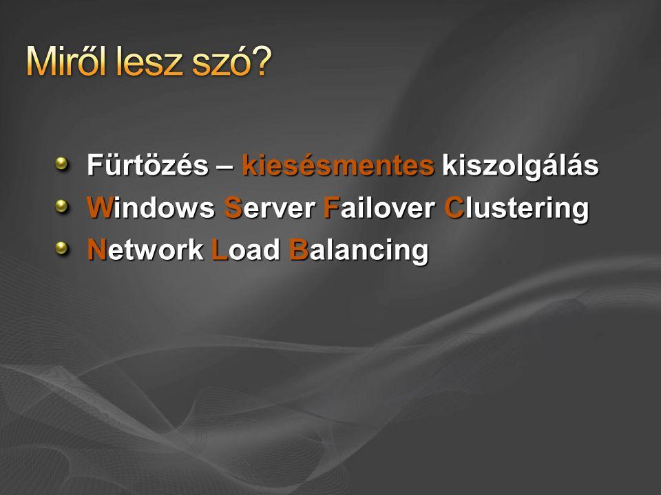 Nyomkövetés a régi cluster.log helyett Event tracing szolgáltatás Reliability and Performance konzol adatgyűjtés fut.