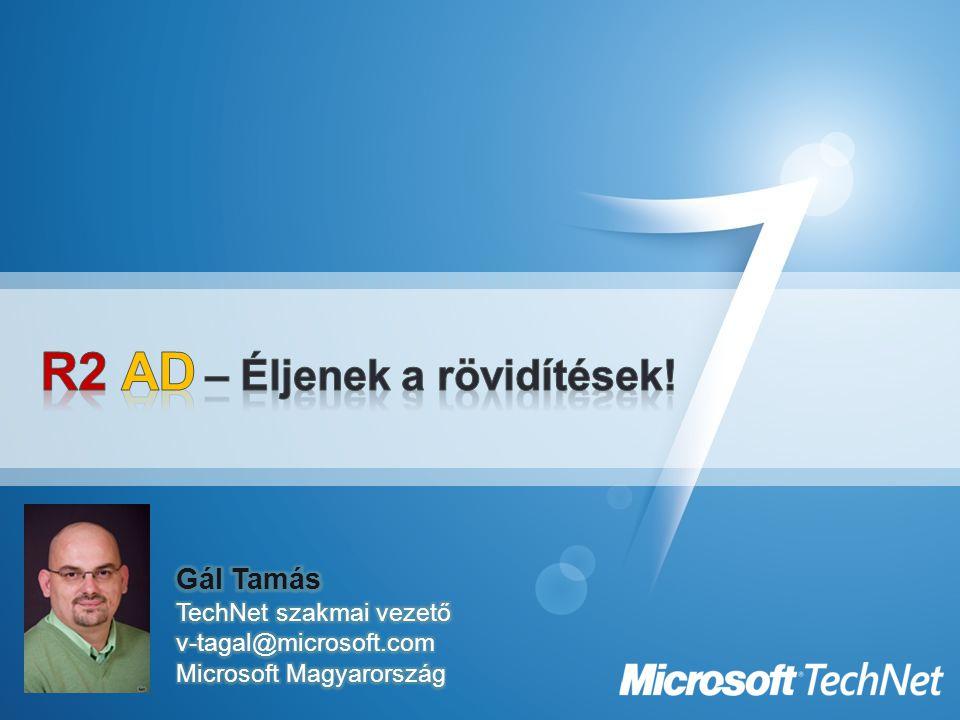 """MSA beizzítás 1.A fiók létrehozása New-ADServiceAccount –Name {MSA name} –Path {directory path} 2.Hozzárendelése a szerverhez Add-ADServiceAccount –Identity {FQDN} -ServiceAccount {MSA} 3.""""Telepítése a helyi szerveren Install-ADServiceAccount –Identity {MSA}  A fiókot használó szoftver beállítása Korlátok –Egy MSA = egy szerver, ergo nem megosztható –Csak Windows 7 vagy Windows Server 2008 R2 –SPN automatizmus csak WS08 R2 DFL-től"""