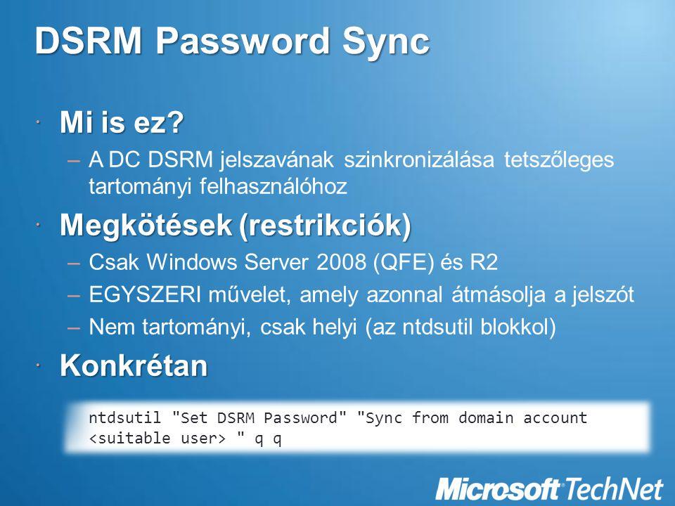DSRM Password Sync  Mi is ez.