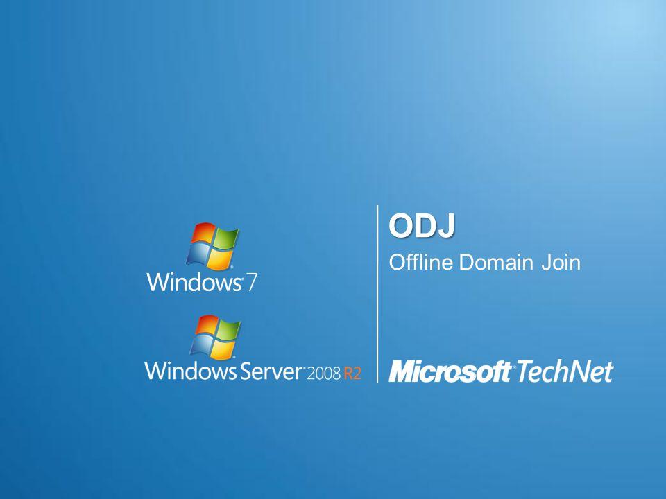 Offline Domain Join (ODJ)  Mi is ez.