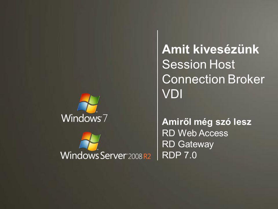 Virtualizációs platform Menedzsment Desktop terítés Alkalmazás terítés Csak a VDI környezet monitorozására Csak VDI-hoz használható Bármihez használható VDI licenszelés A VECD licenszeket egyik sem tartalmazza!