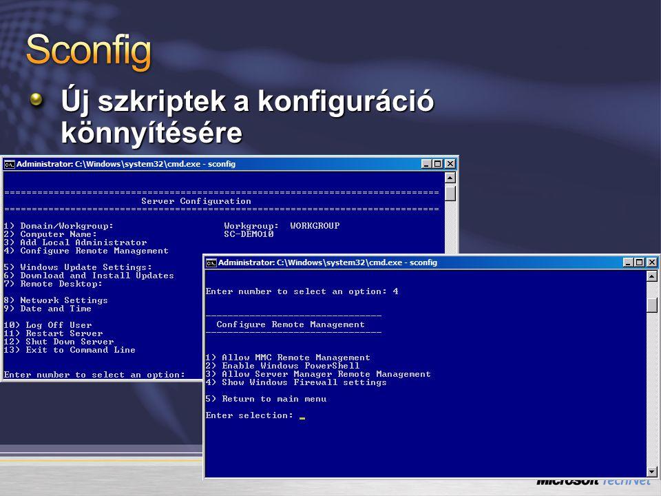 Új szkriptek a konfiguráció könnyítésére