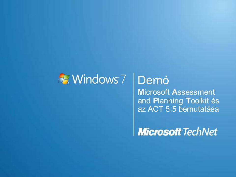 Demó Microsoft Assessment and Planning Toolkit és az ACT 5.5 bemutatása