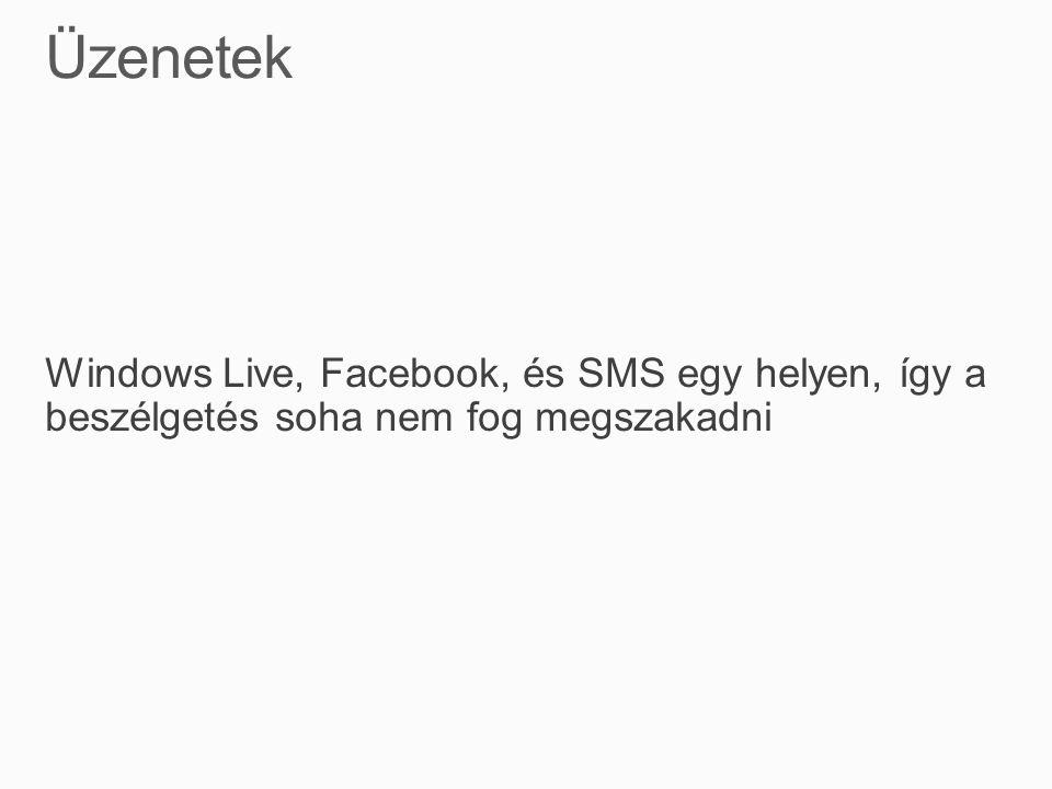 Windows Live, Facebook, és SMS egy helyen, így a beszélgetés soha nem fog megszakadni