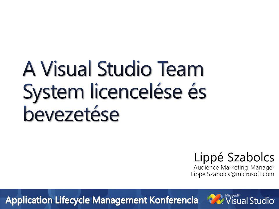 Team System tagjai MSDN előfizetés előnyei Professional Premium Miben segít a Fejlesztői Platform Üzletág.