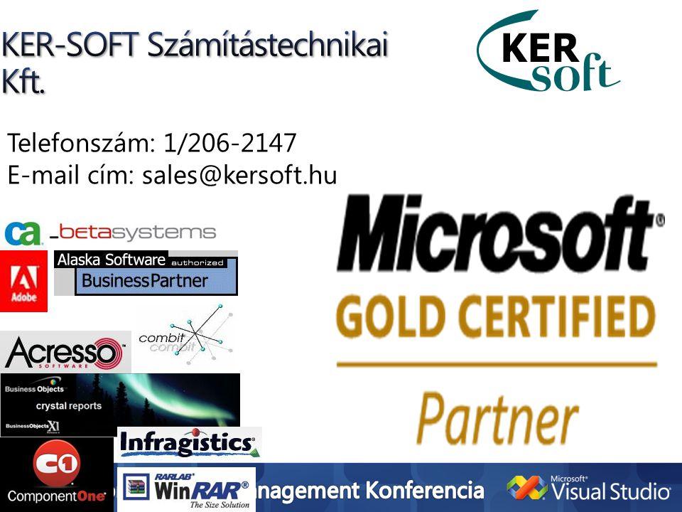 Telefonszám: 1/206-2147 E-mail cím: sales@kersoft.hu