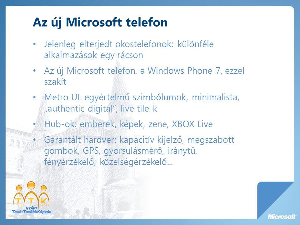 Az új Microsoft telefon Jelenleg elterjedt okostelefonok: különféle alkalmazások egy rácson Az új Microsoft telefon, a Windows Phone 7, ezzel szakít M