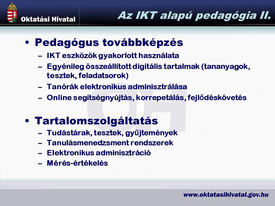 Az IKT alapú pedagógia II.