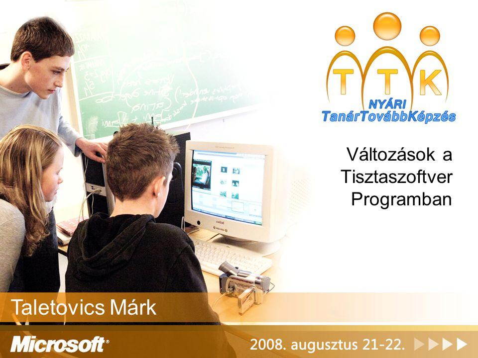 Változások a Tisztaszoftver Programban Taletovics Márk