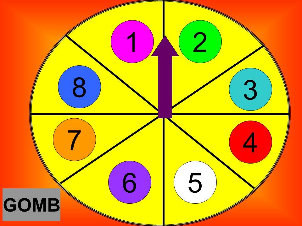 Szabály: Minden diák kap egy-egy kártyát 1-8- ig. Minden diák ír egy-egy ismétlő kérdést a lapjára.