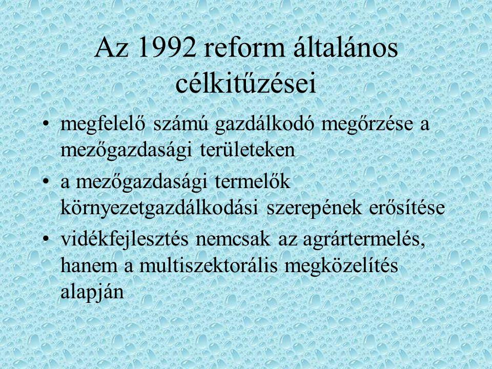 A CAP reform a reform harmadik szakasza a legradikálisabb az 1990-es évek elején a korrekciókat egyre inkább meghaladó reform irányában kifejtett nyomás egyfelől a közösségen belülről, másfelől a fő világgazdasági partnerek részéről érkezett