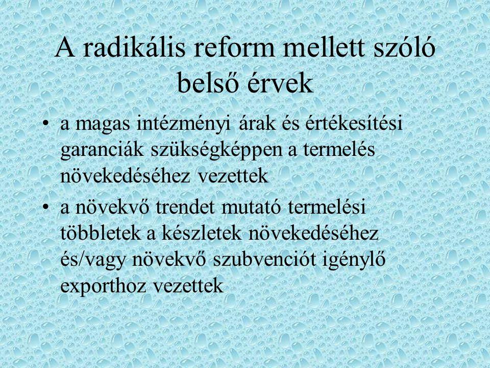 Az 1992 reform általános célkitűzései a mezőgazdasági költségvetésnek a korábbiaknál jobban kell szolgálnia a pénzügyi szolidaritást az arra leginkább rászorulók megsegítése, (a támogatások allokációjánál a gazdaságok nagyságát, jövedelmi helyzetét, továbbá regionális összefüggéseket egyaránt figyelembe kell venni)