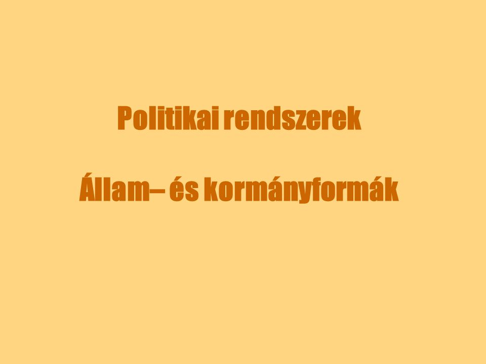 A parlamentáris kormányforma A kontinentális Európában: Egyes államokban az alkotmány tiltja a személyi összefonódást – a kormánytagok nem lehetnek parlamenti képviselők (pl.