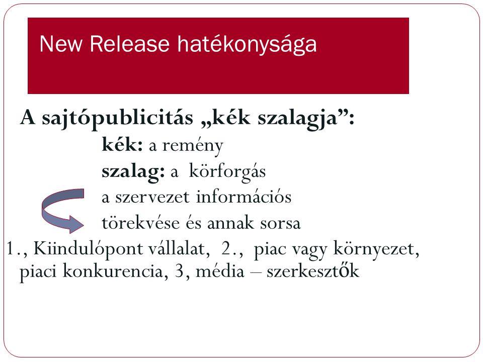 New Release készítése Forma felirat: sajtóanyag.