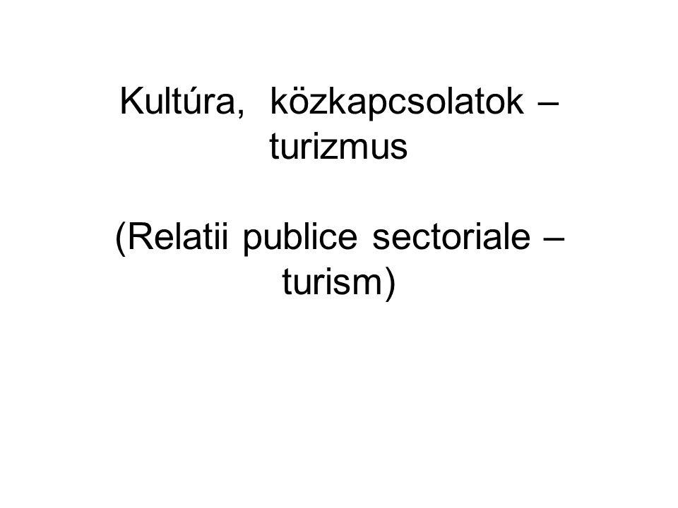 Kultúra, közkapcsolatok – turizmus (Relatii publice sectoriale – turism)